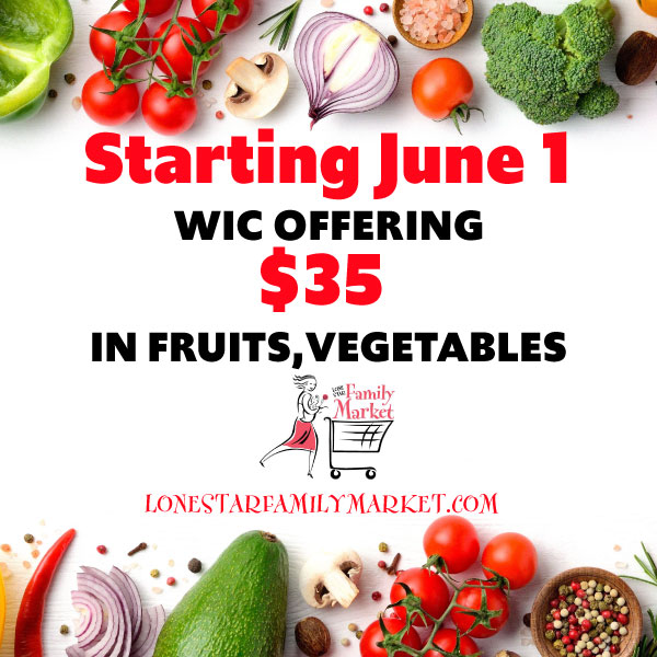 WIC Fruits, Vegetables